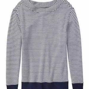Athleta Boat Neck Studio Striped sweater